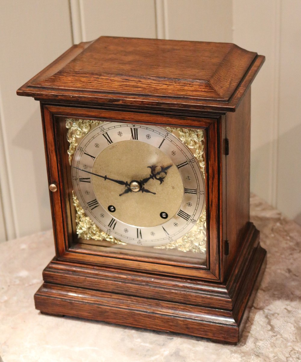 Antiques Atlas - Oak Mantel Clock (Germany, C. 1890)
