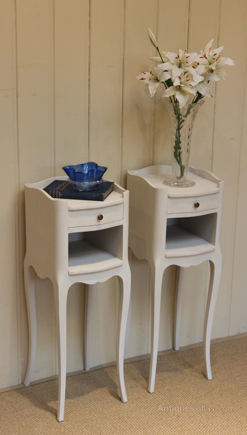 related images. Bar Harbor narrow white bedside table.