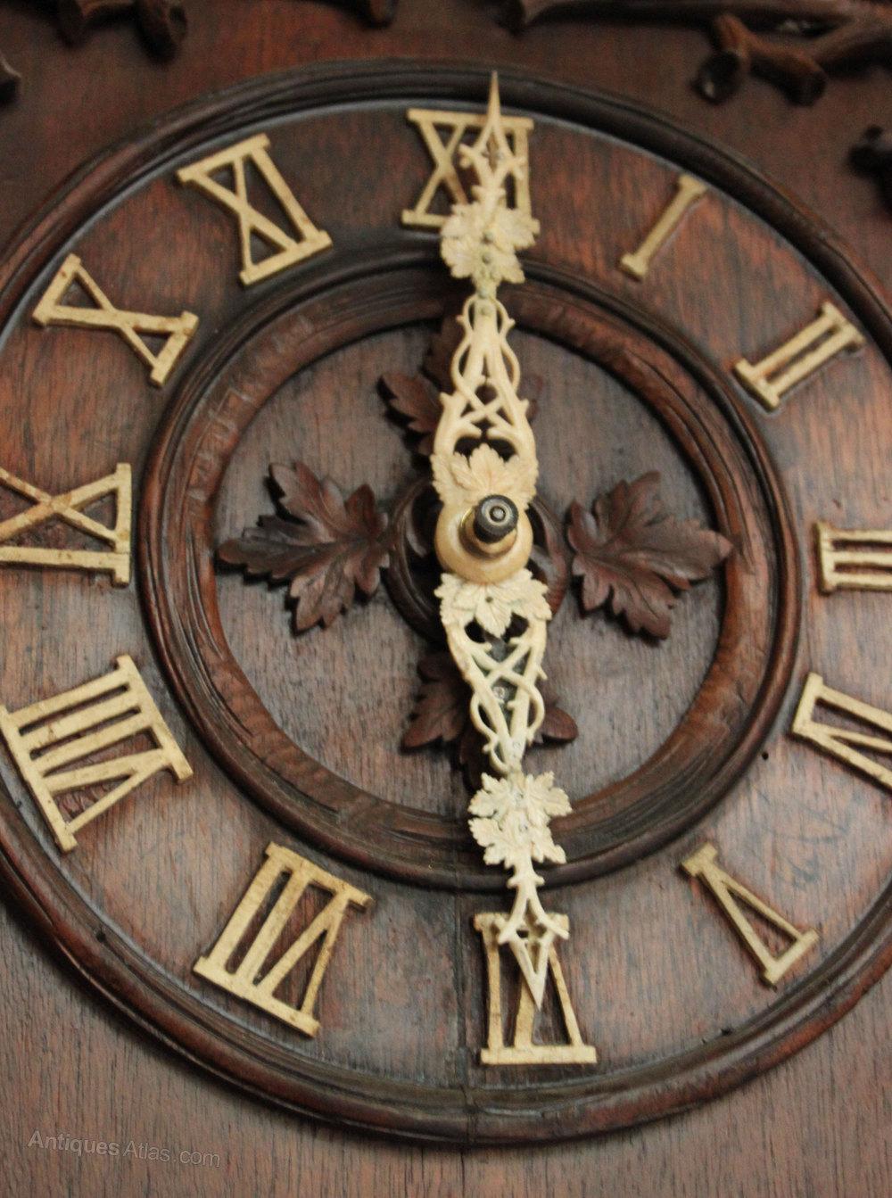 Antiques Atlas Rare Black Forest Trumpeter Clock
