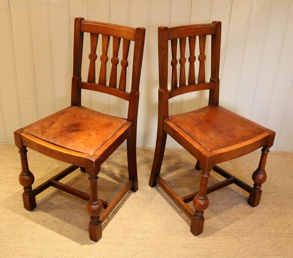 Oak Dinette Chairs ~ Set of eight oak dining chairs antiques atlas