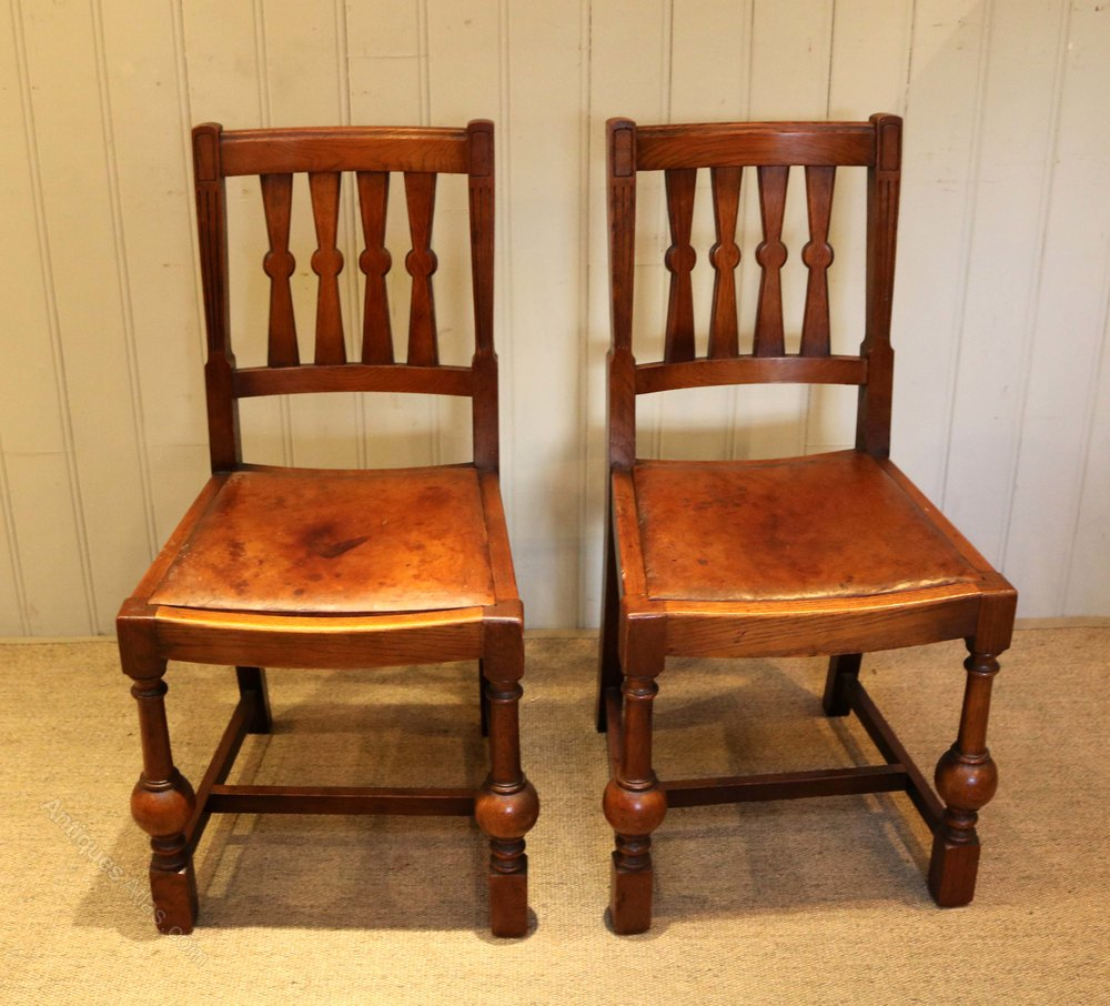 Set Of Eight Oak Dining Chairs Antiques Atlas