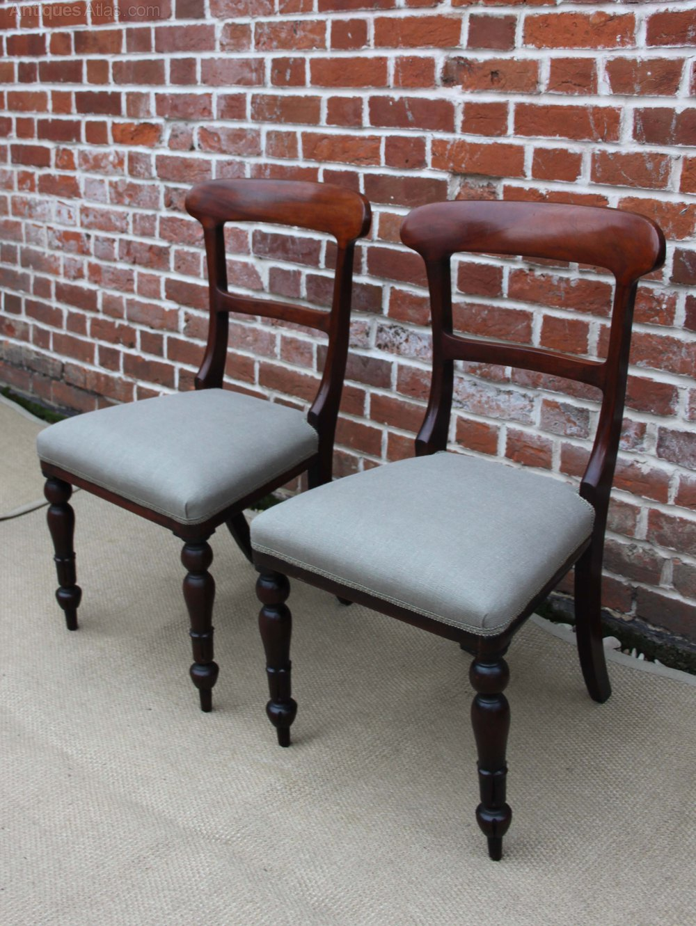 set of four upholstered dining chairs antiques atlas. Black Bedroom Furniture Sets. Home Design Ideas
