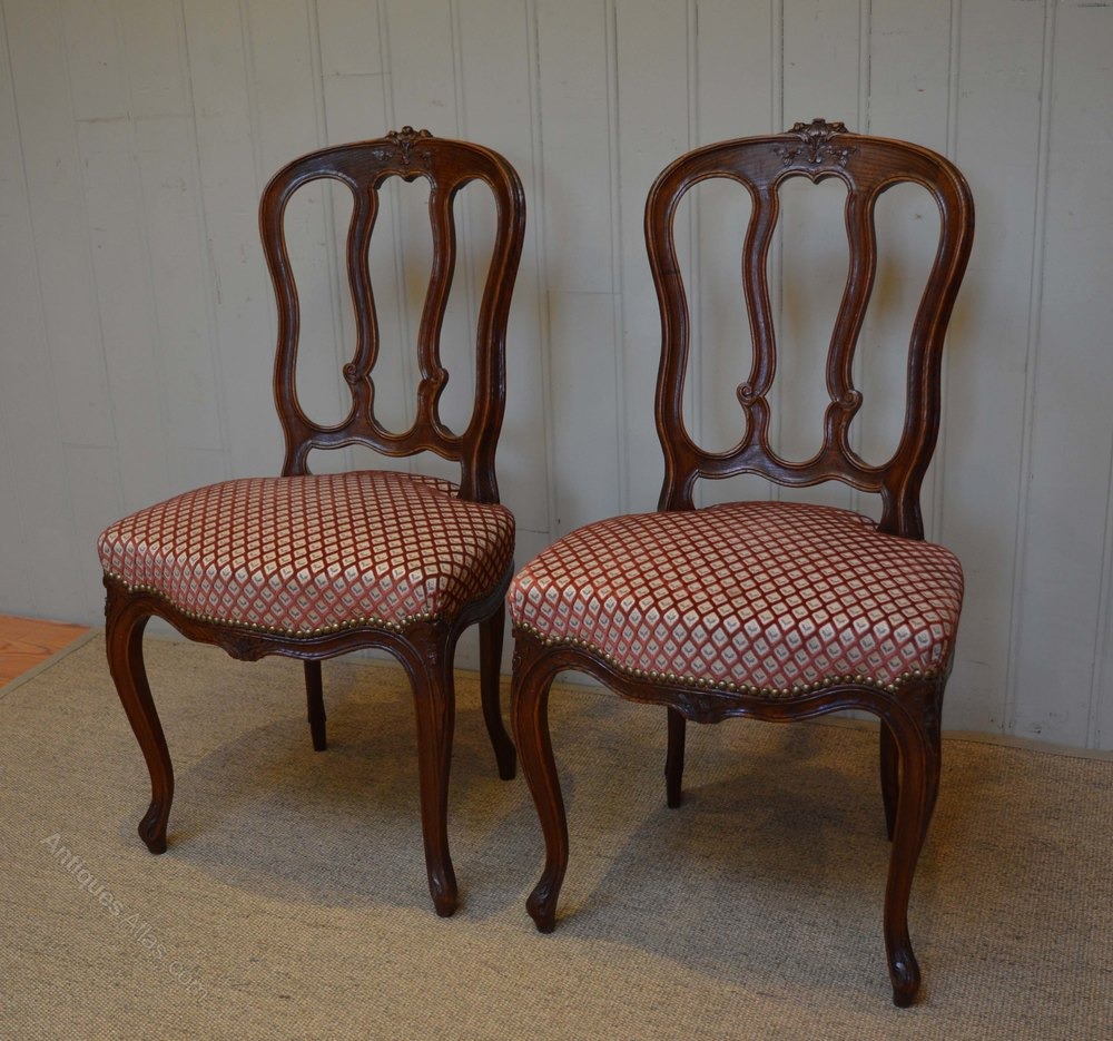 Set Of Six French Oak Dining Chairs Antiques Atlas