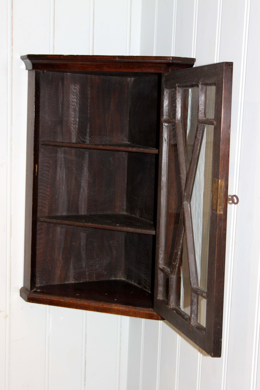Small Mahogany Wall Mounted Corner Cabinet Antiques Atlas