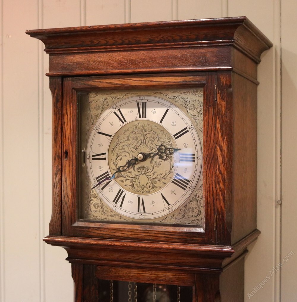 Antiques Atlas - Small Oak Longcase Clock (England And ...