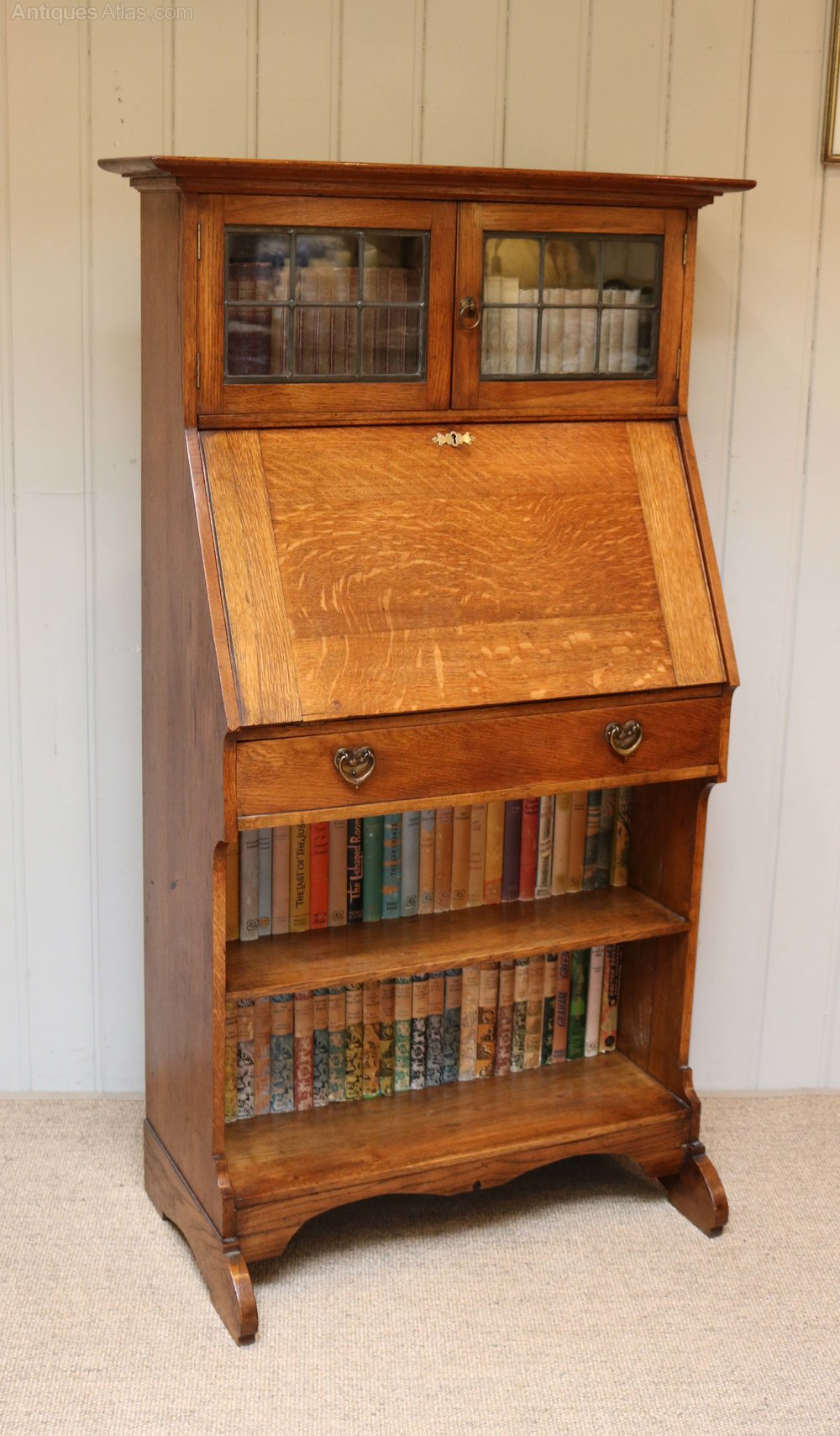 small proportioned arts and crafts bureau bookcase antiques atlas. Black Bedroom Furniture Sets. Home Design Ideas