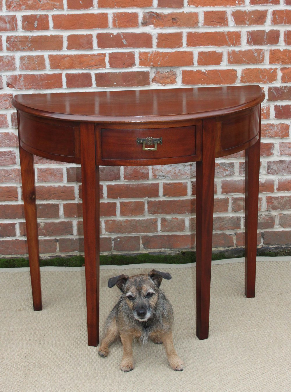 Solid Mahogany DemiLune Hall  Side Table  Antiques Atlas