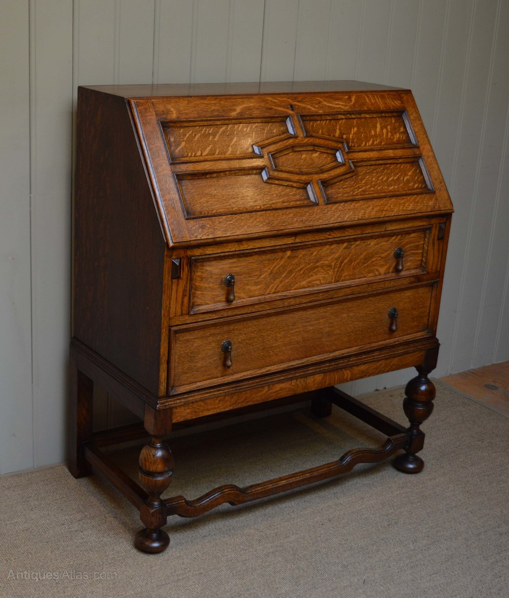 Solid oak bureau antiques atlas for Bureau antique