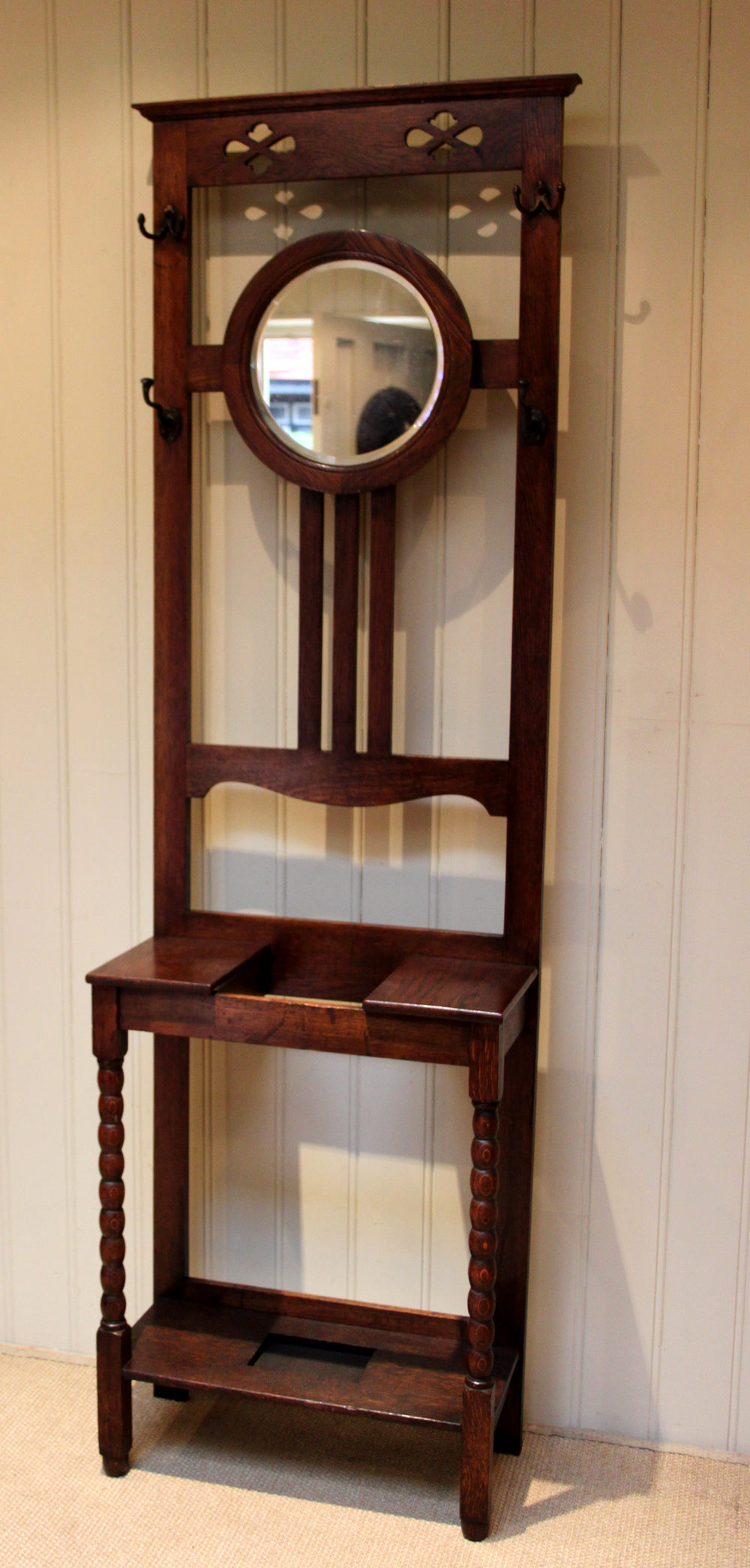 Solid Oak Hall Stand Antiques Atlas