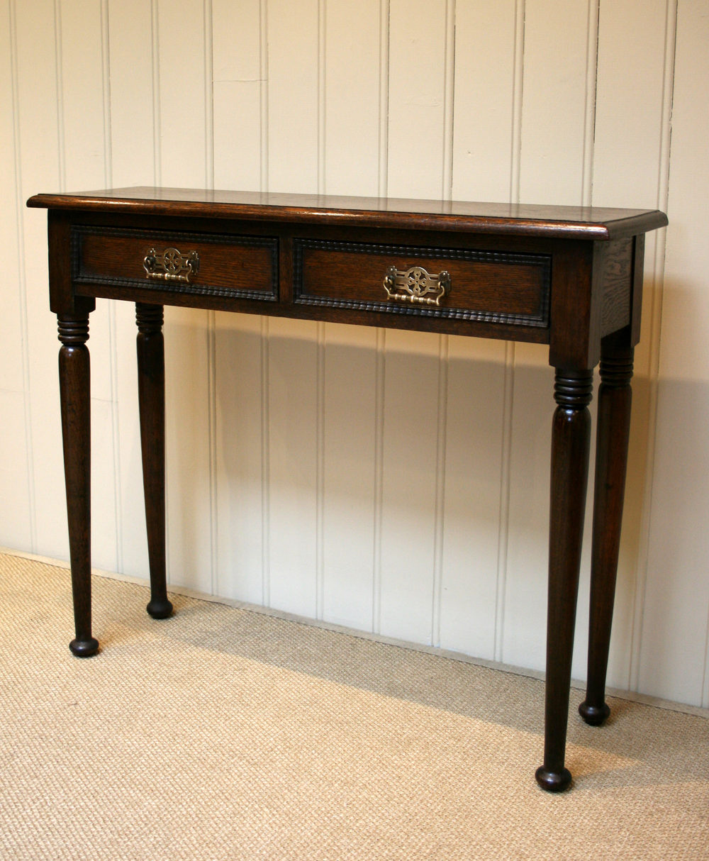 Solid Oak Narrow Hall Table