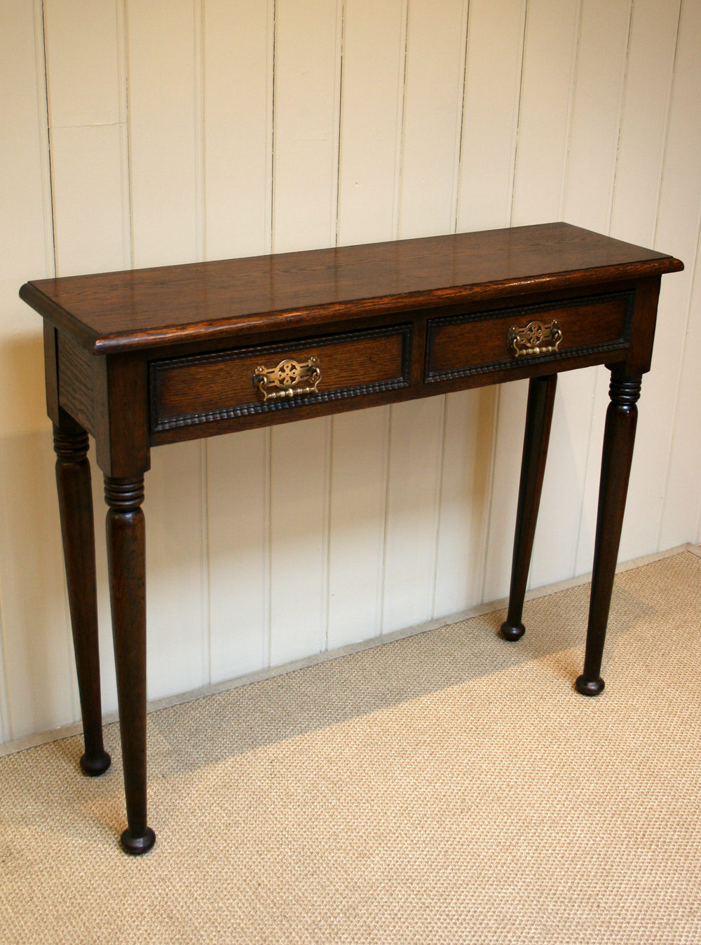 Narrow Foyer Table : Solid oak narrow hall table antiques atlas