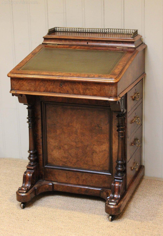Victorian Burr Walnut Davenport Desk Antiques Atlas