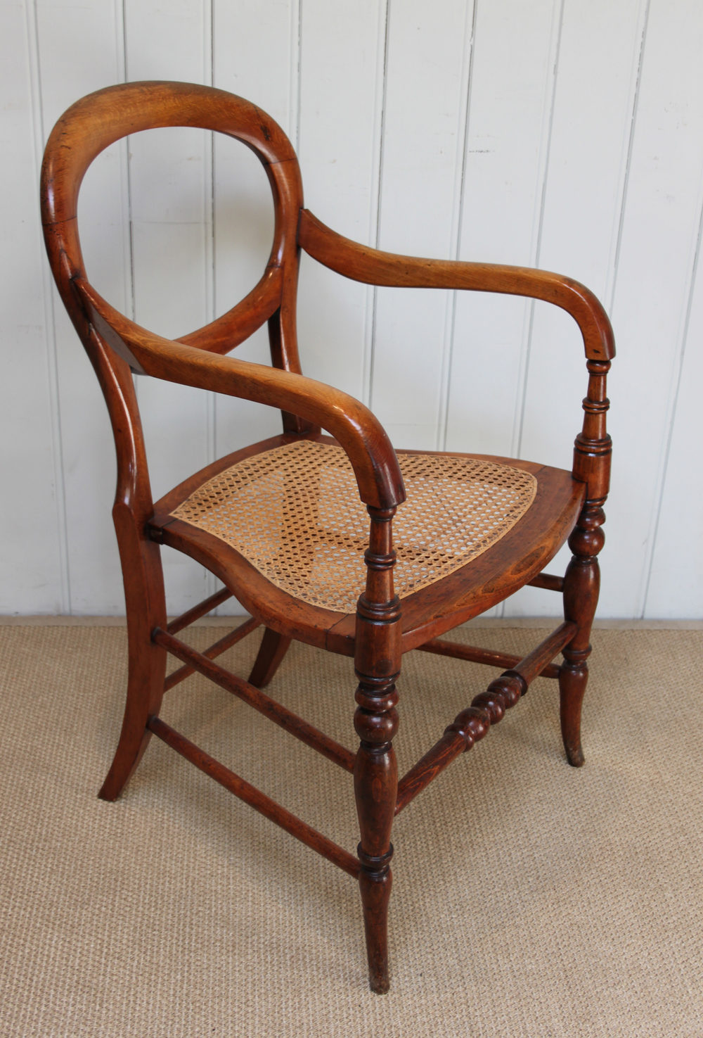 Victorian Cane Seated Balloon Back Chair Antiques Atlas
