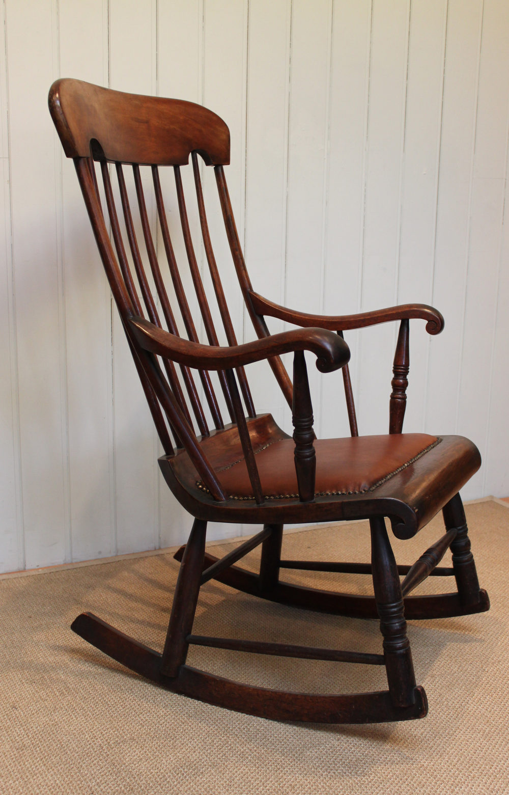 Victorian Fruitwood Rocking Chair - Antiques Atlas