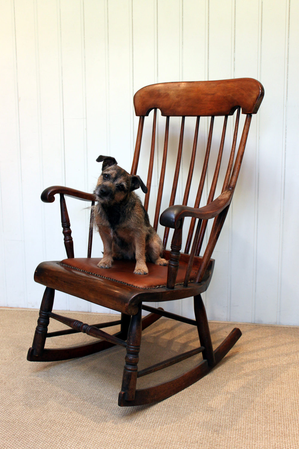 Victorian Spindle Rocking Chair Antique