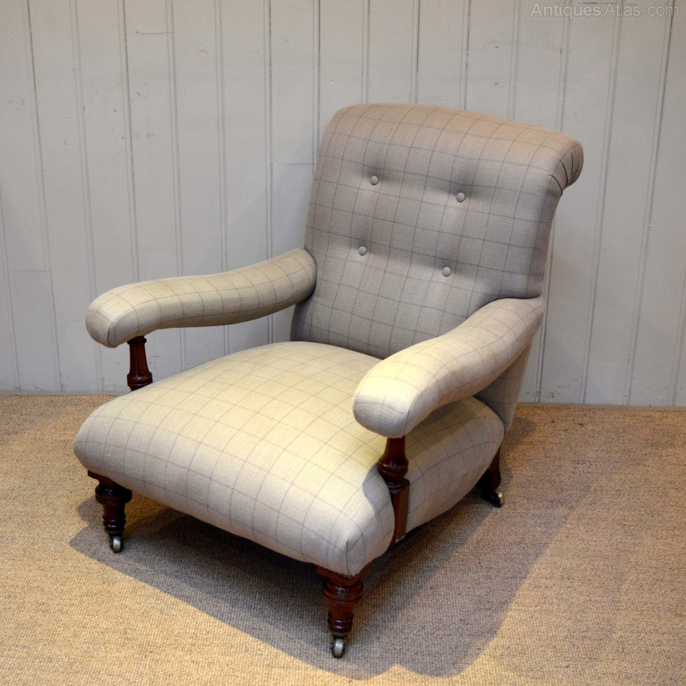 Victorian Low Armchair - Antiques Atlas