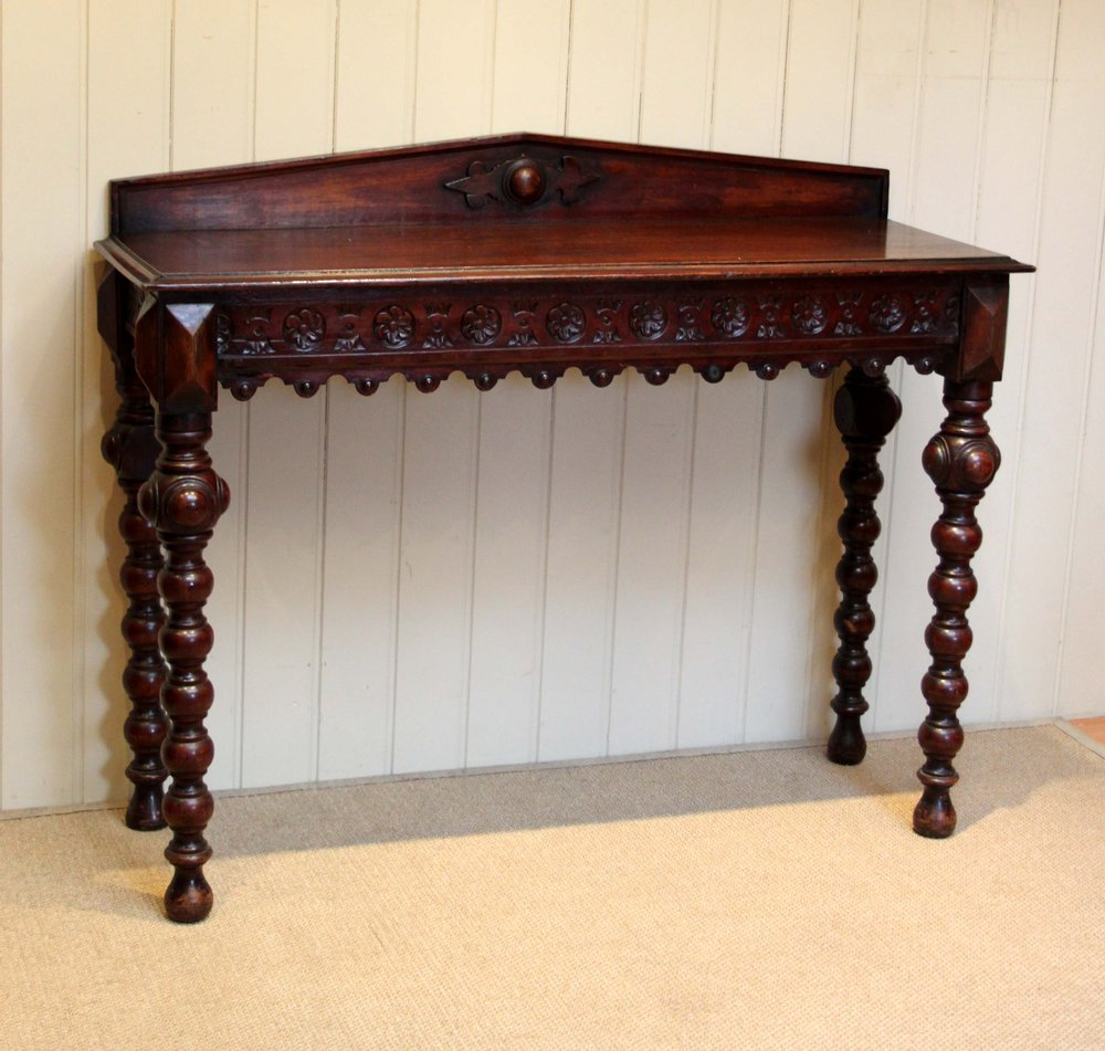 Oak Hall Table ~ Victorian solid oak hall table antiques atlas