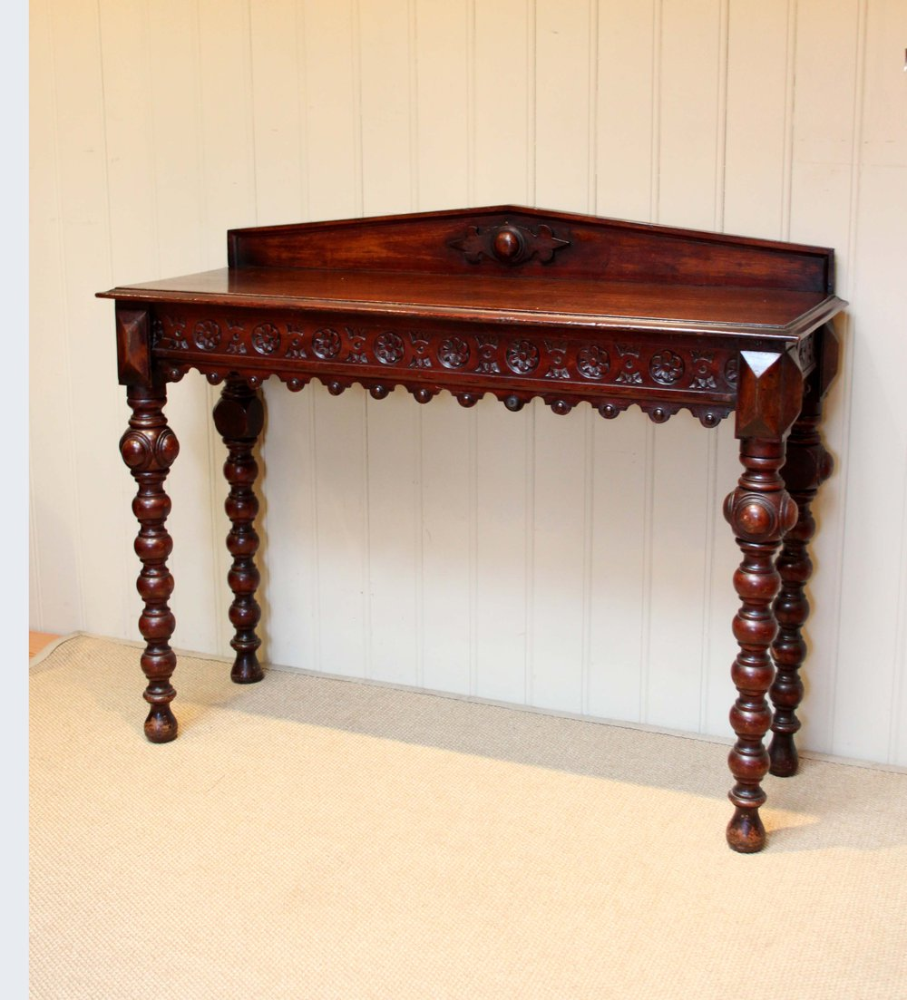 Victorian solid oak hall table antiques atlas