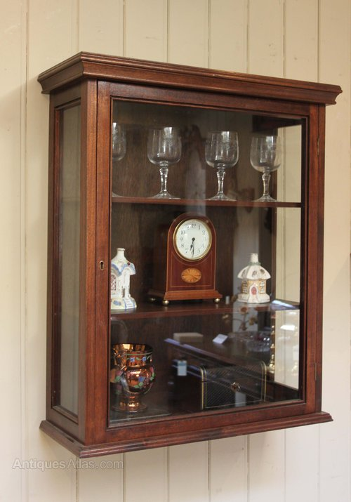 Antiques Atlas Vintage Mahogany Wall Display Cabinet