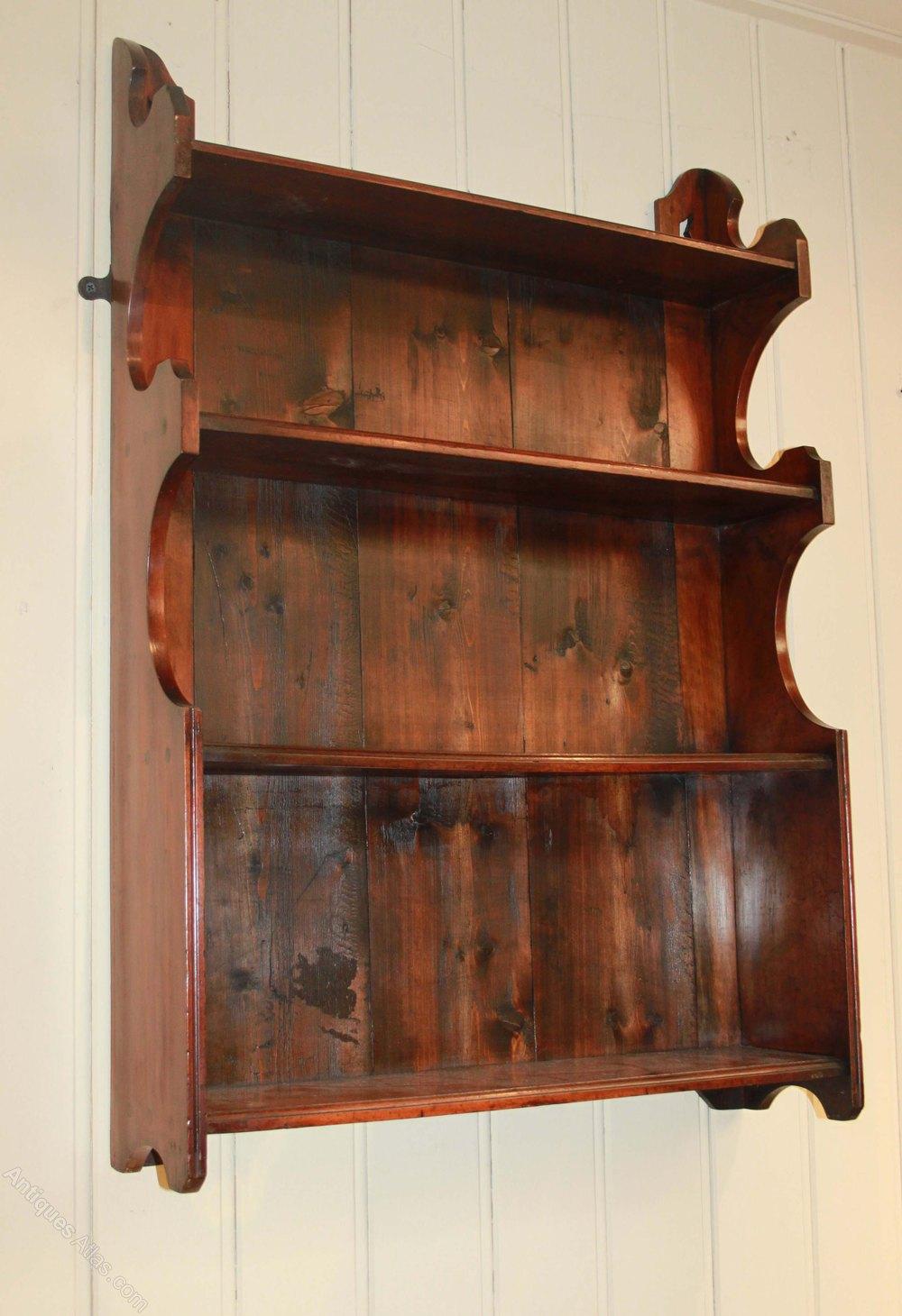 walnut graduated wall shelves antiques atlas walnut wall mounted shelves walnut wall shelf with hooks