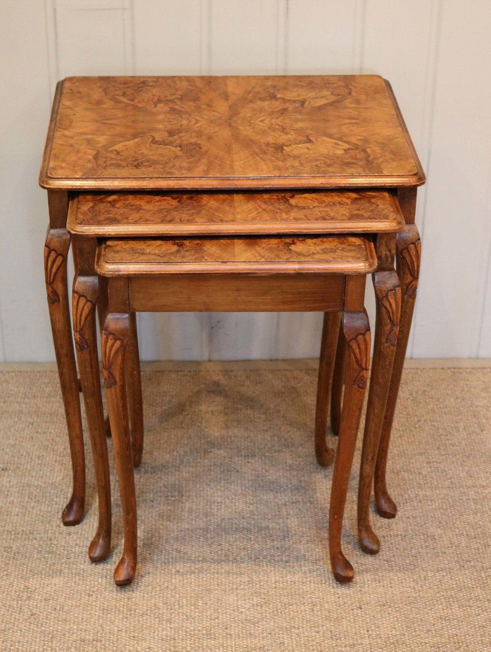 Walnut nest of tables antiques atlas