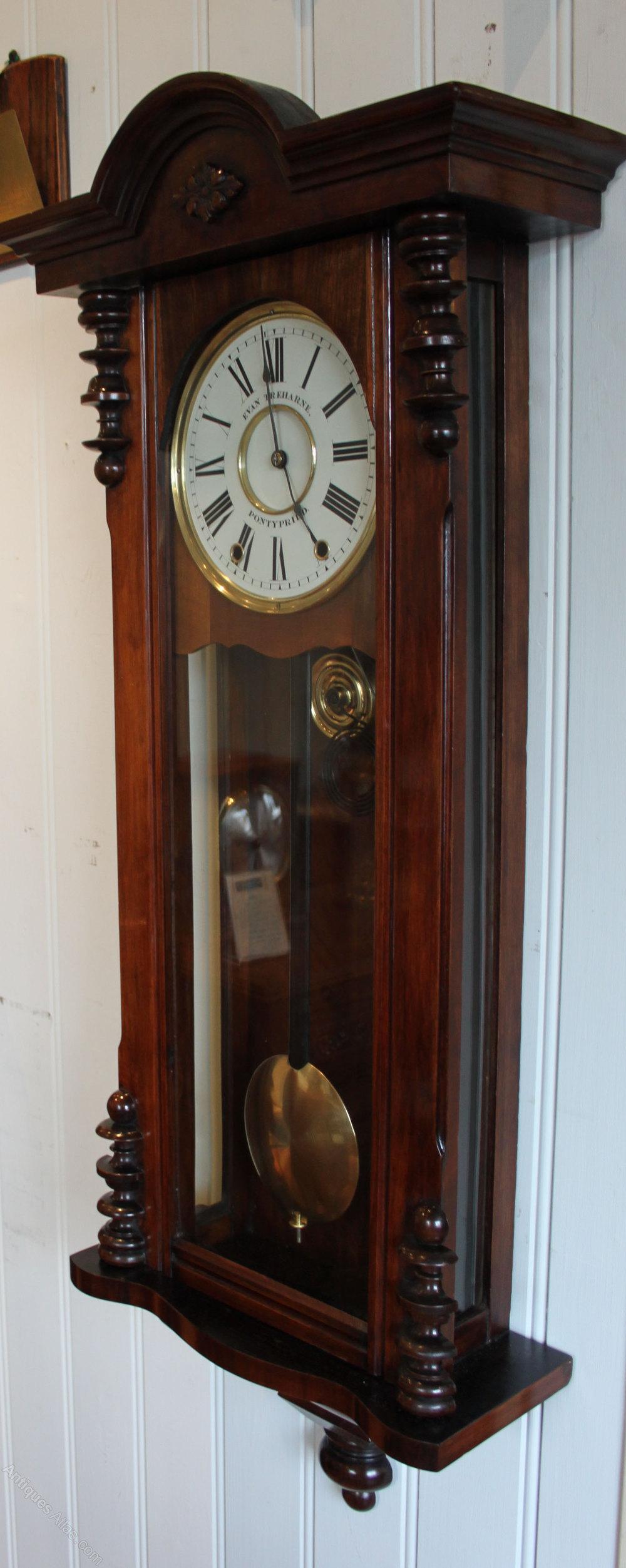 Antiques Atlas Walnut Regulator Style Wall Clock