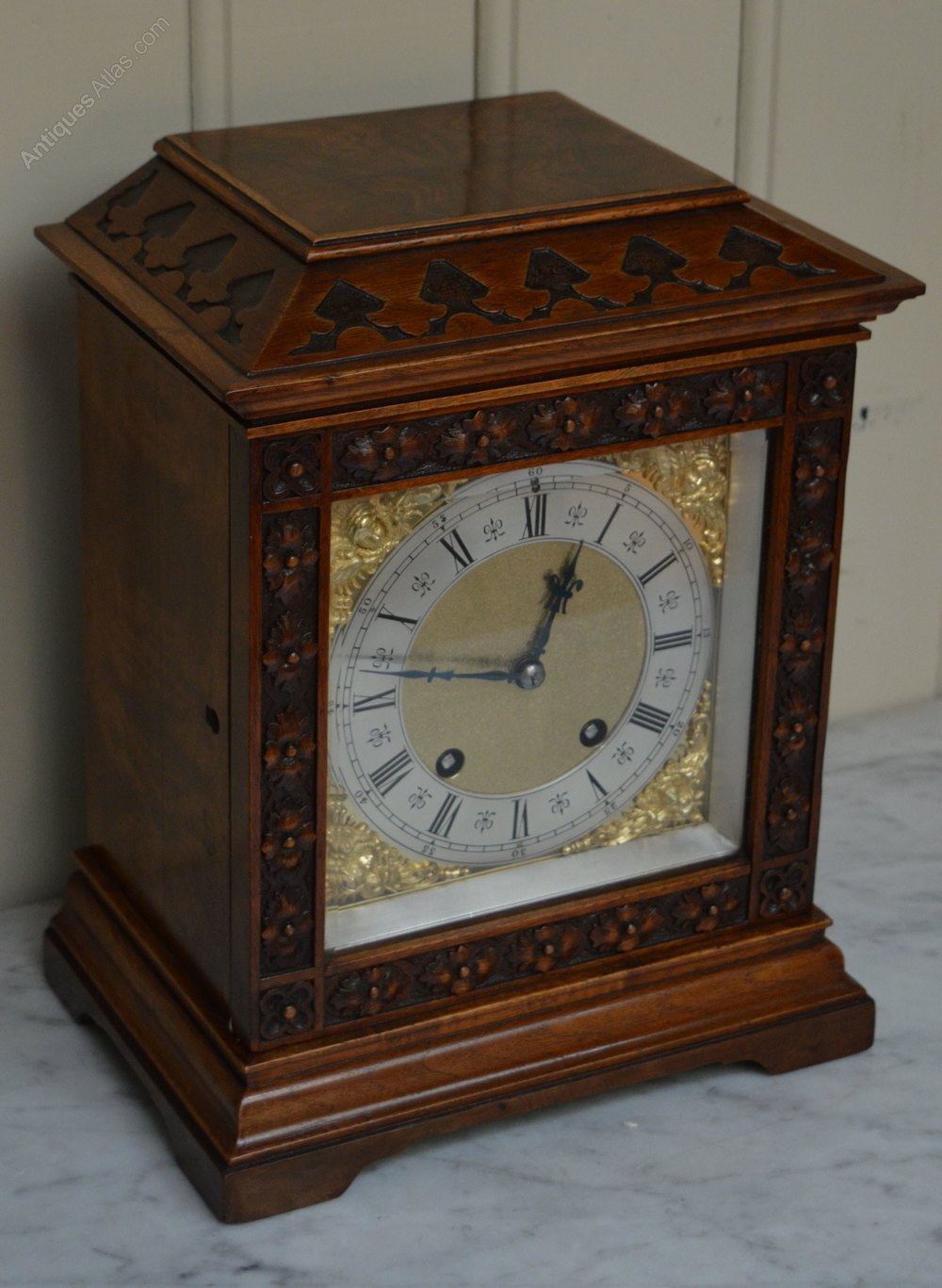Antiques Atlas - Walnut Ting Tang Lenzkirch Bracket Clock ...