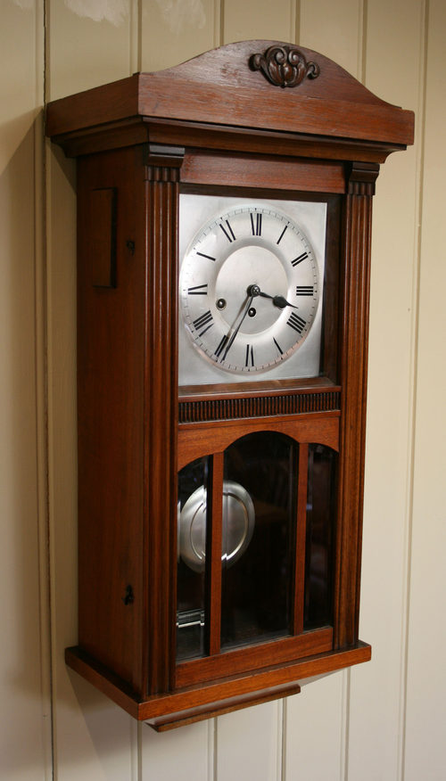 Antiques Atlas Walnut Westminster Chime Three Glass Wall