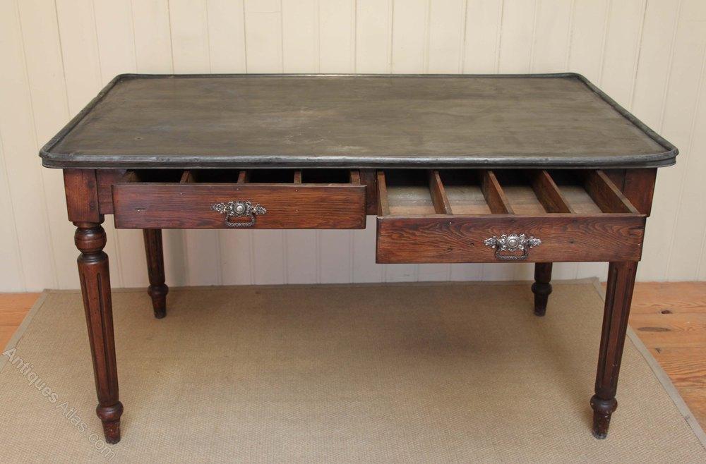 Zinc Top Dining Table Antiques Atlas