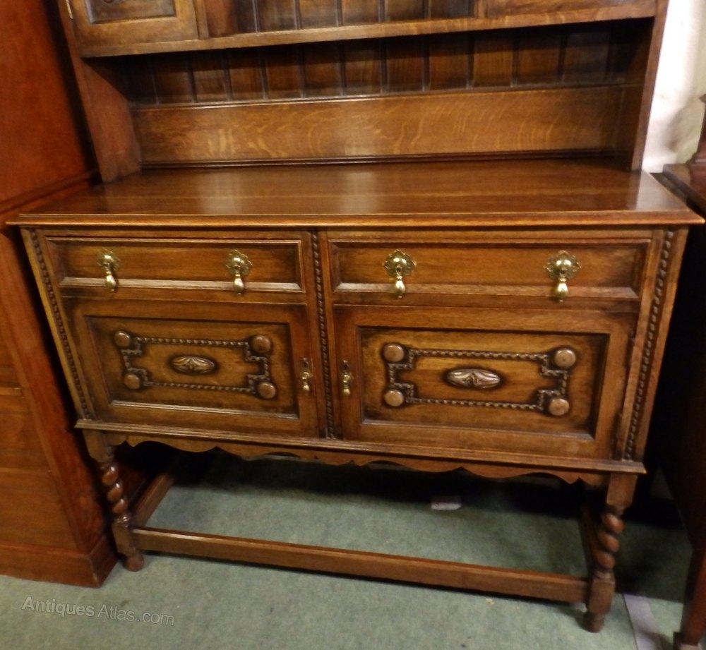 1930s Oak Barley Twist Dresser Antiques Atlas