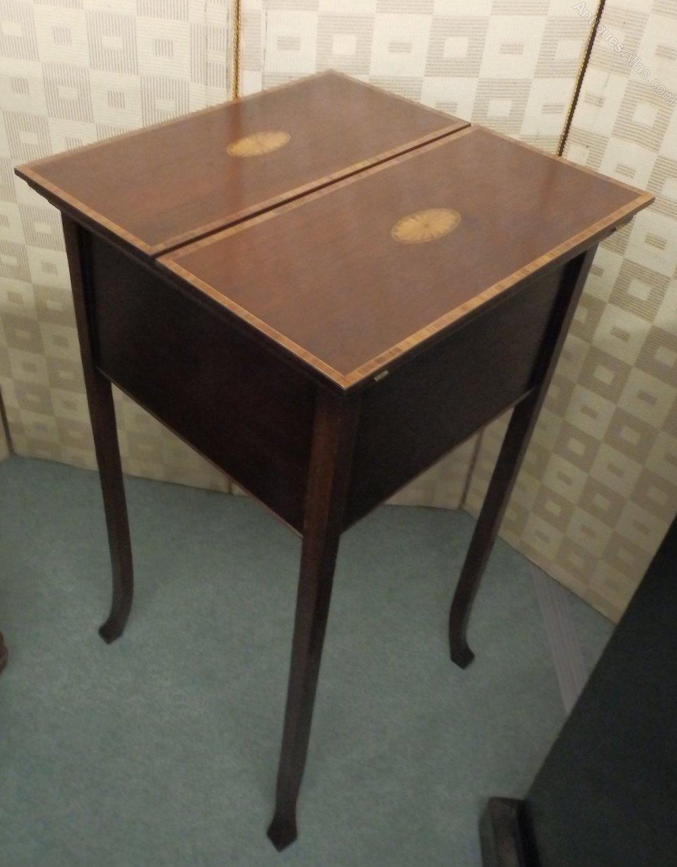 edwardian sewing table antiques atlas. Black Bedroom Furniture Sets. Home Design Ideas