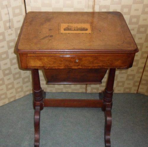 vic sewing table antiques atlas. Black Bedroom Furniture Sets. Home Design Ideas