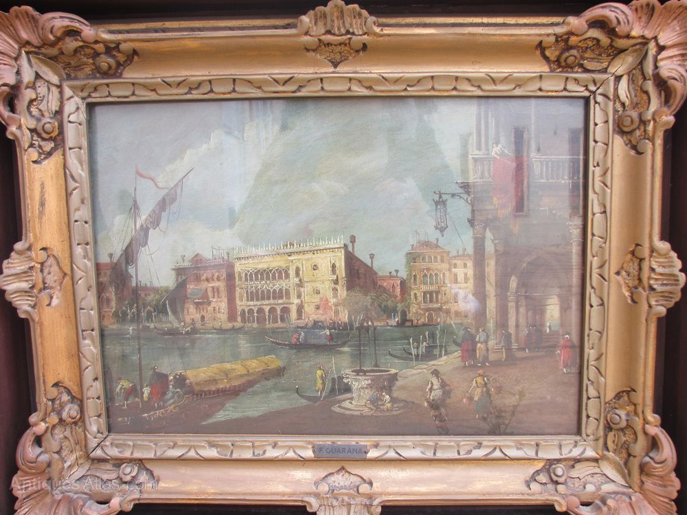 Antiques Atlas F Guarana Pair Of Oil On Canvas Of Venice