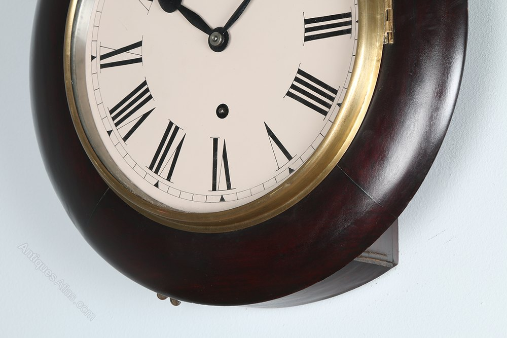 Antiques Atlas 14 Mahogany Railway Station Wall Clock