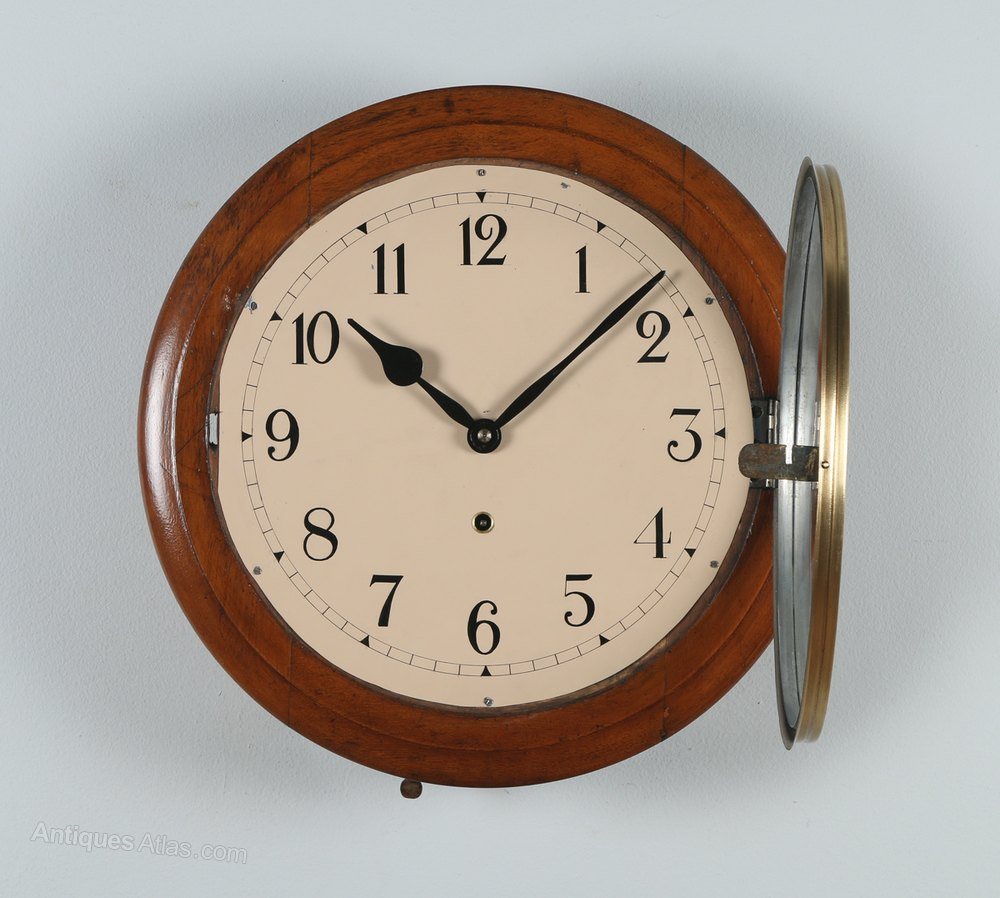 Antiques atlas 15 mahogany anglo swiss railway station clock - Swiss railway wall clock ...