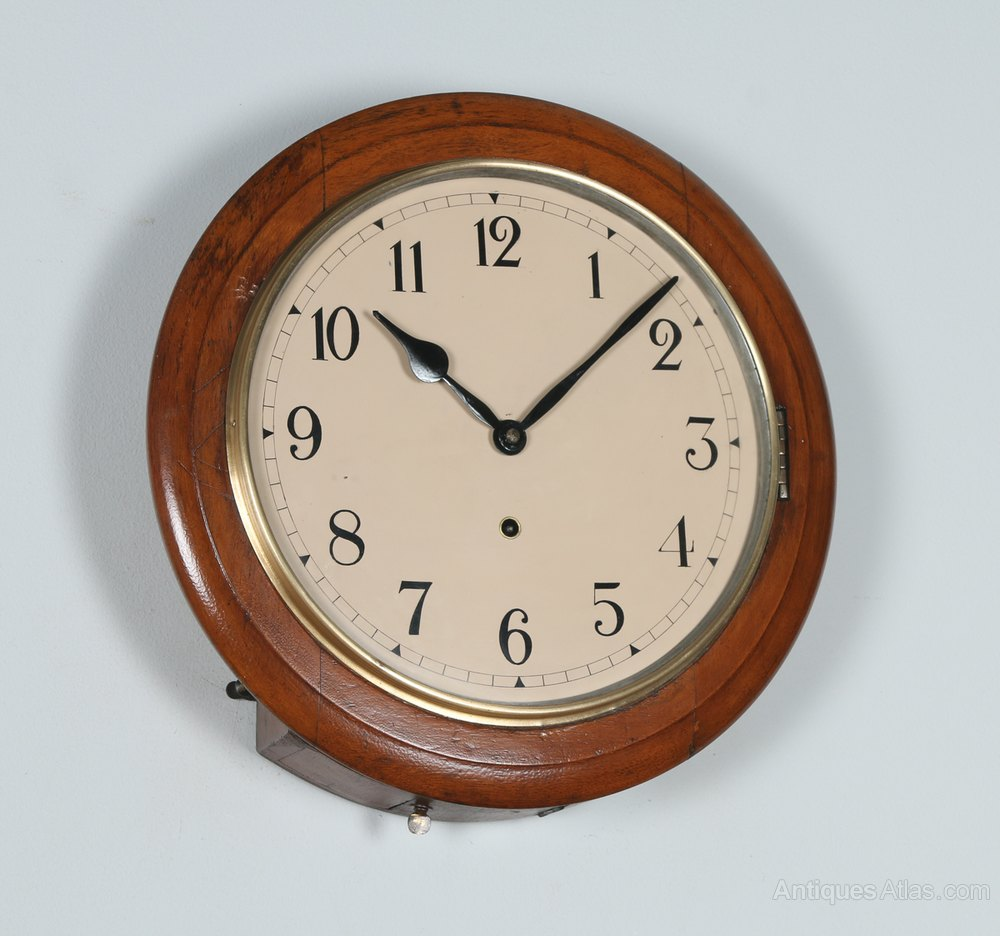 Antiques atlas 15 mahogany anglo swiss railway station - Swiss railway wall clock ...