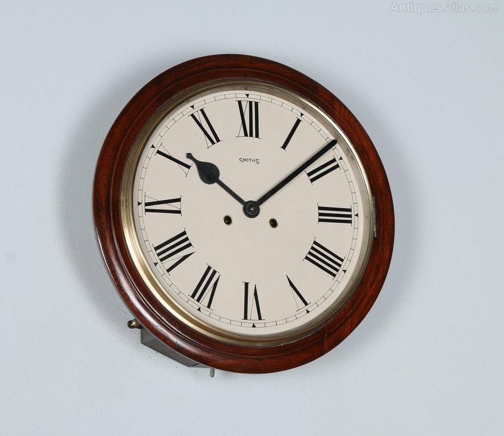 antiques atlas 15 mahogany railway station wall clock