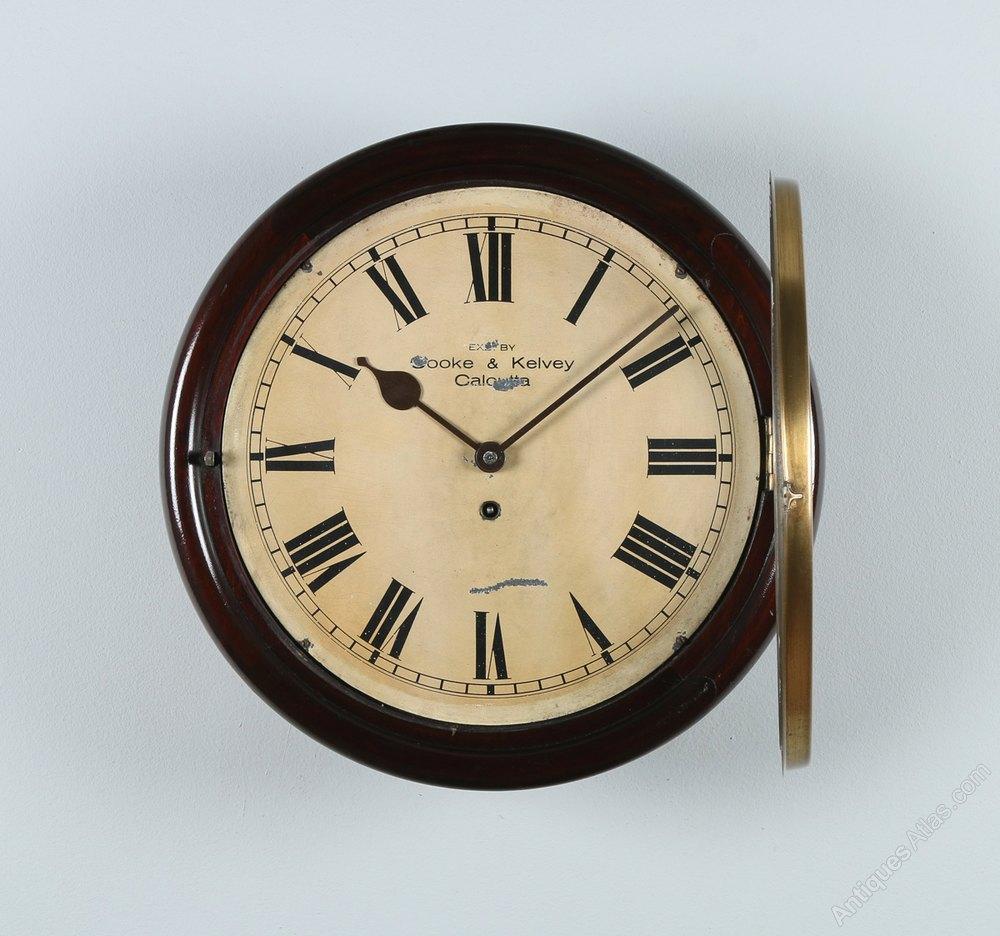 Antiques Atlas 16 Mahogany Cooke Kelvey Wall Clock