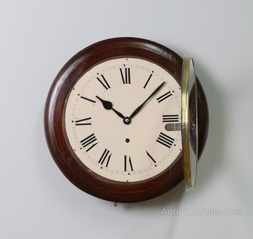Antiques Atlas 16 Mahogany Station Wall Clock 2 Yr