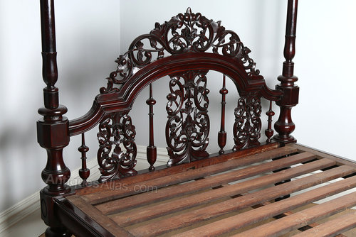 5ft 8 Victorian Colonial Raj Four Poster Bed Antiques Atlas