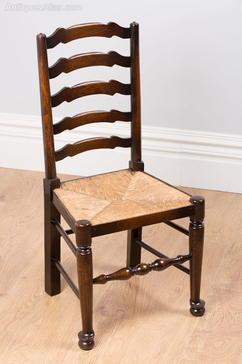 6 Ash Amp Elm Ladder Back Farmhouse Dining Chairs Antiques
