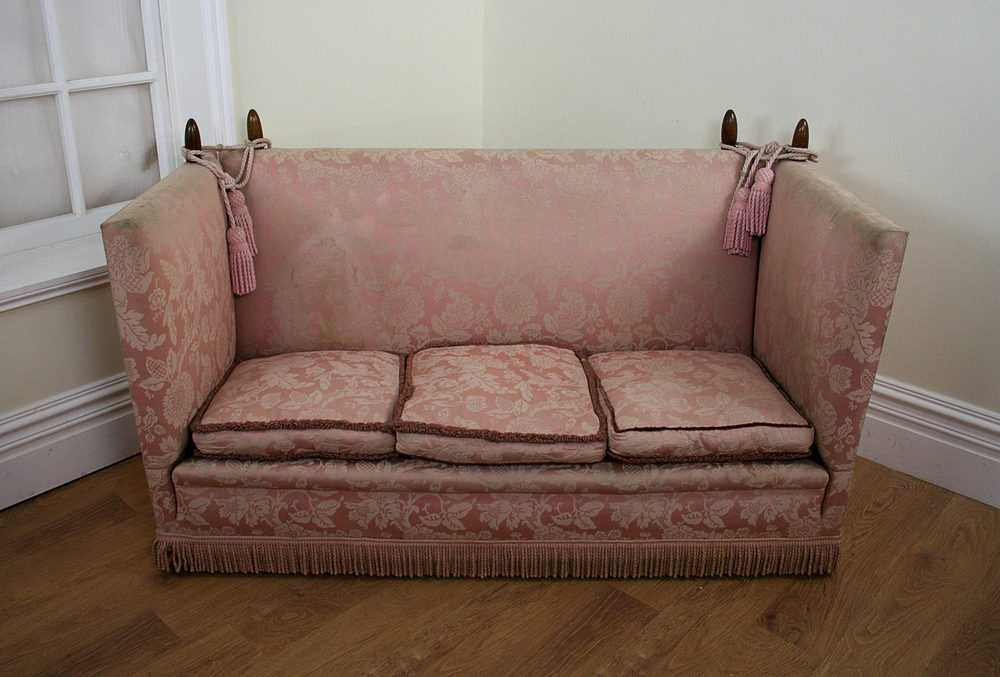 Antique Upholstered Knole Arm Couch C 1901 1920
