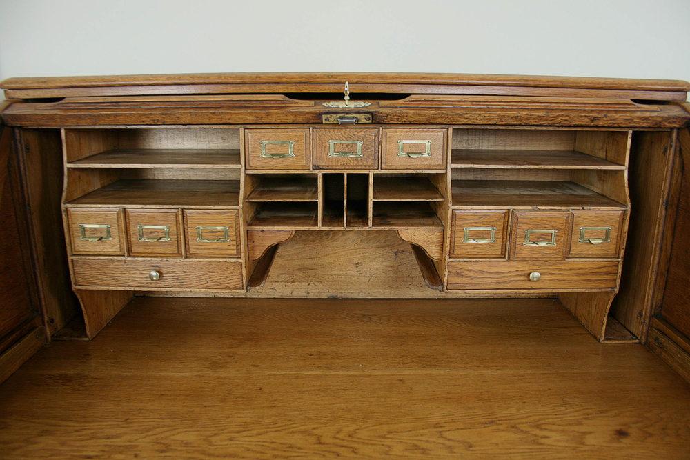 Antique Victorian Oak Roll Top Pedestal Desk Antiques Atlas