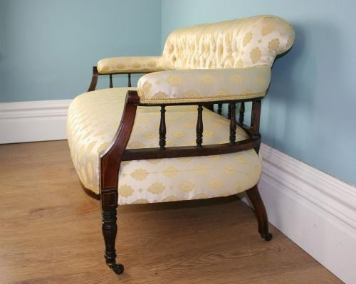 Antique victorian rosewood couch chaise settee antiques for Antique victorian chaise