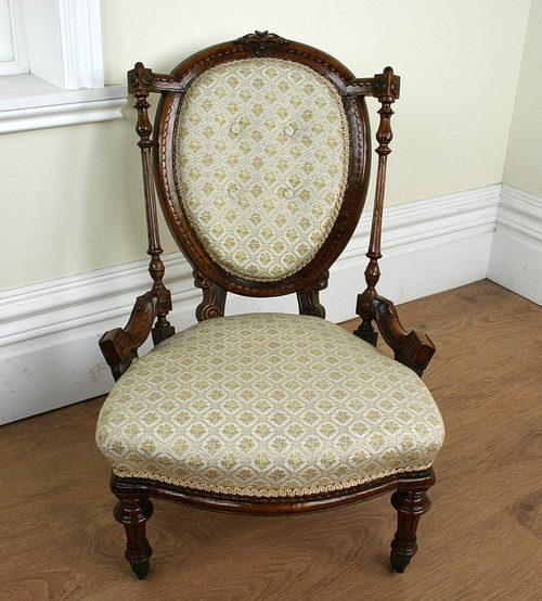 - Antique Walnut Victorian Nursing Chair (c. 1840) - Antiques Atlas