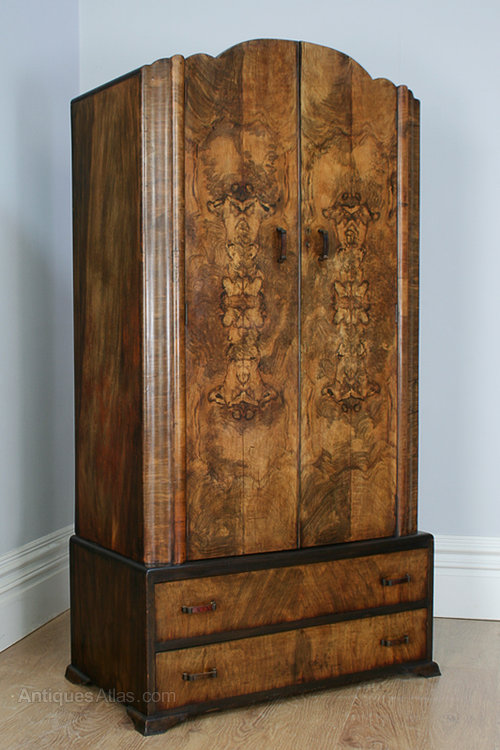 art deco figured walnut wardrobe circa 1930 antique wardrobes art deco figured walnut wardrobe vintage