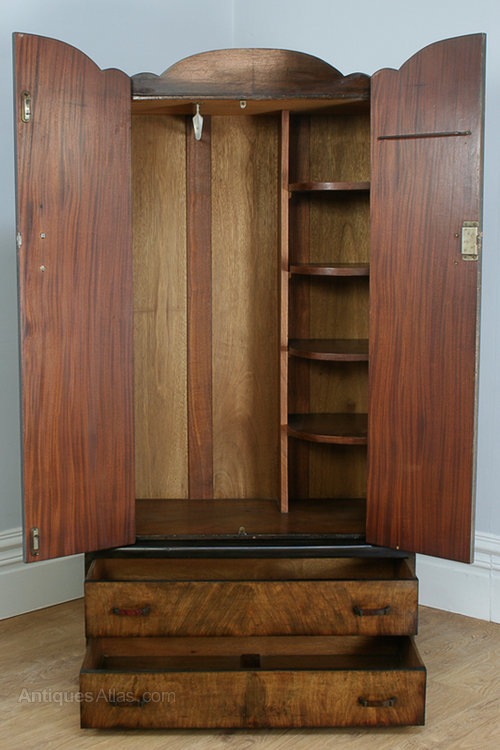 art deco figured walnut wardrobe circa 1930 antique wardrobes wardrobe armoire chest art deco figured walnut wardrobe vintage