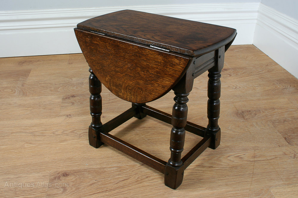 Charles Ii Style Oak Swivel Drop Leaf Coffee Table Antiques Atlas