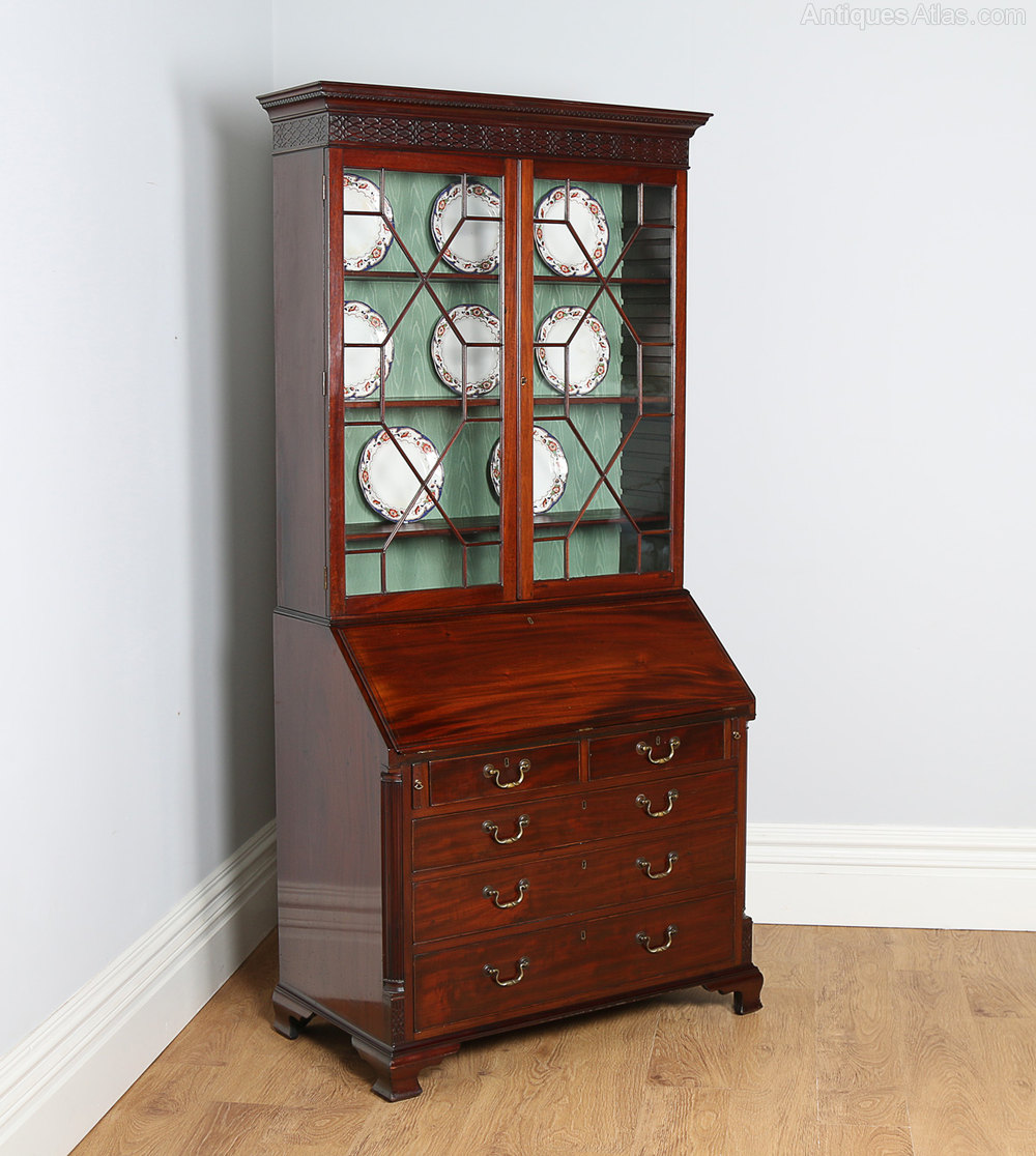 chippendale revival mahogany bureau bookcase antiques atlas. Black Bedroom Furniture Sets. Home Design Ideas