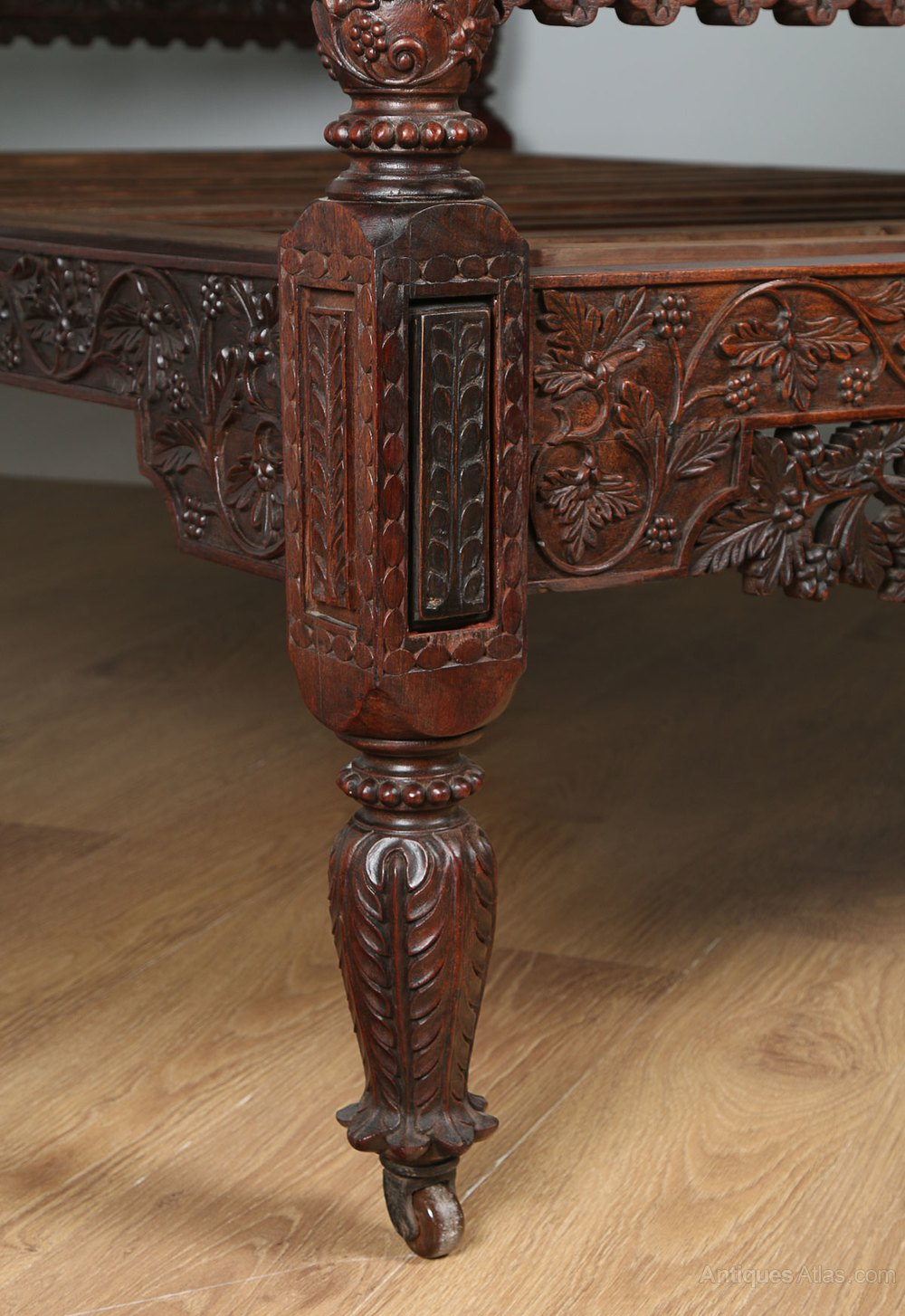 Colonial Ceylonese Carved Rosewood Bed C 1850 Antiques